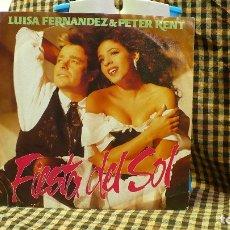 Discos de vinilo: LUISA FERNANDEZ & PETER KENT -- FIESTA DEL SOL / CORAZON, POLYDOR – 863 648-7, 1992.GERMANY.. Lote 177721087