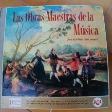 Discos de vinilo: LAS OBRAS MAESTRAS DE LA MUSICA-12 LP. Lote 177723379