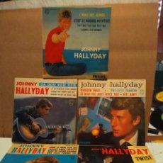 Discos de vinilo: LOTE DE 5 EP´S DE JOHNNY HALLYDAY (SONGS CHUCK BERRY SAM COOKE ELIE GREENWICH BARRY MANN GENE PITNEY. Lote 177729722