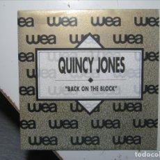 Discos de vinilo: QUINCY JONES BACK ON THE BLOCK SINGLE VINILO PROMOCIONAL NUEVO A ESTRENAR.. Lote 177733940