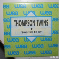 Discos de vinilo: THOMPSON TWINS BOMBERS IN THE SKY SINGLE VINILO PROMOCIONAL NUEVO A ESTRENAR.. Lote 177734044