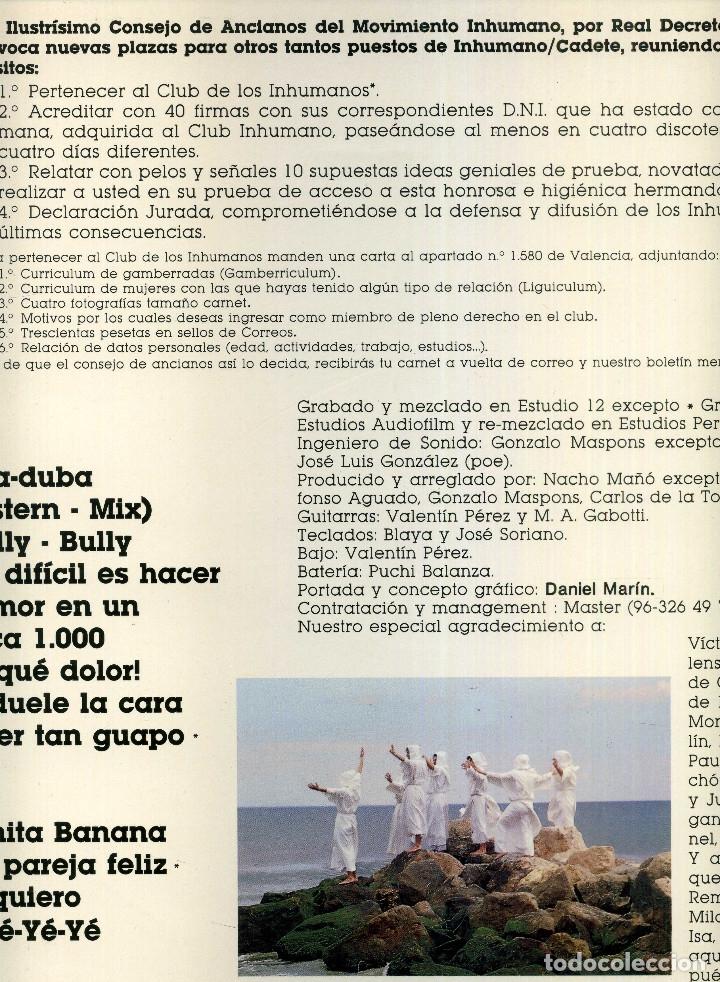 Discos de vinilo: LOS INHUMANOS - 30 HOMBRES SOLOS - Foto 2 - 177734343