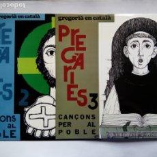 Discos de vinilo: LOTE DE 2 LP'S. PREGÁRIES 2 Y 3. CANÇONS PER AL POBLE. LP'S EUFONIC. ESPAÑA 1975-1981. JOAN ÚBEDA.. Lote 177734960