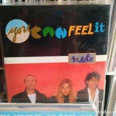 Discos de vinilo: TRAKS, YOU CAN FEEL IT, MAXI-SINGLE BLANCO Y NEGRO SPAIN 1985. Lote 177735719