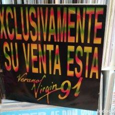Discos de vinilo: VERANO VIRGIN 91 - VARIOS (DOBLE DISCO, PROMO ESPAÑOL, VIRGIN RECORDS 1991,. Lote 177736759
