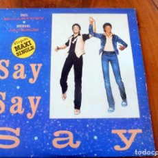 Discos de vinilo: LP - PAUL MACCARTNEY - MICHAEL JACKSON - SAY SAY SAY. Lote 177738442