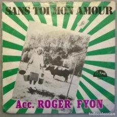 Discos de vinilo: ROGER FYON. LA DANSE DES FERMIERS/ SANS TOI MON AMOUR. HEBRA, BELGICA 1981 SINGLE. Lote 177745172