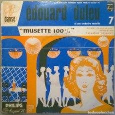 Discos de vinilo: EDOUARD DULUEU. MUSETTE 100%. JAVI-JAVA/ VIRTUOSE JAVA/ FARANDOLE DE MINUIT. PHILIPS, FRANCE EP. Lote 177746203