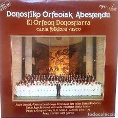 Discos de vinilo: LP DONOSTIKO ORFEOIAK ABESTENDU. AÑO 1979. Lote 177747363