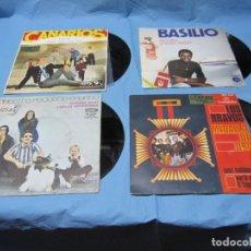 Discos de vinilo: LOTE SINGLES DE BASILIO, LOS BRAVOS, LOS CANARIOS, NUESTRO PÈQUEÑO MUNDO, CEREZO BADAJOZ. Lote 177747914