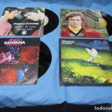 Discos de vinilo: LOTE SINGLES ANDRES DO BARRO, JUAN Y JUNIOR Y SANTANA CON PEGATINA CEREZO BADAJOZ. Lote 177748027