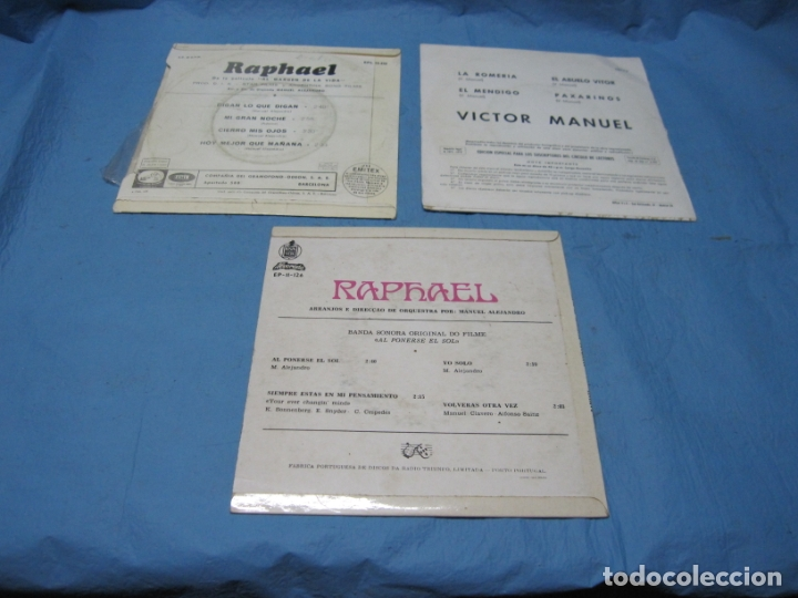 Discos de vinilo: LOTE SINGLES DE VICTOR MANUEL Y RAPHAEL - Foto 2 - 177748158