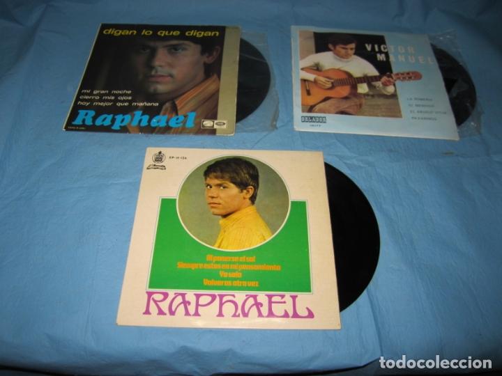 LOTE SINGLES DE VICTOR MANUEL Y RAPHAEL (Música - Discos - Singles Vinilo - Solistas Españoles de los 50 y 60)