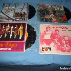 Discos de vinilo: LOTE SINGLES DE POP TOPS Y LONE STAR CON PEGATINA CEREZO BADAJOZ. Lote 177748378
