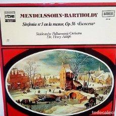 Discos de vinilo: LP DE MENDELSSOHN-BARTHOLDY. Lote 177748520