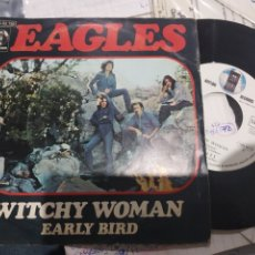 Discos de vinilo: EAGLES WITCHY WOMAN 1972 SINGLE ESPAÑOL DISCO CASI SIN USO. Lote 177763400