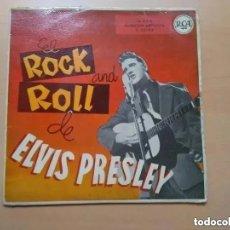 Discos de vinilo: ELVIS PRESLEY - EL ROCK AND ROLL DE ELVIS PRESLEY (EP) 1958 RCA 3-20163. MUY DIFICIL. Lote 177781578