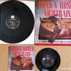 Discos de vinilo: GUNS N' ROSES - NIGHTRAIN PACK 2 VINILOS. Lote 177781645