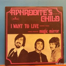 Discos de vinilo: APHRODITE´S CHILD. I WANT TO LIVE. MAGIC MIRROR. MERCURY. Lote 186378402