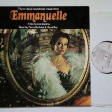 Discos de vinilo: LP: EMMANUELLE (BSO) - MUSIC BY PIERRE BACHELET & HERVÉ ROY - BANDA SONORA - SYLVIA KRISTEL. Lote 177814628