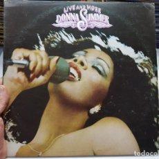 Discos de vinilo: LP DOBLE-DONNA SUMMER-LIVE AND MORE 1978EN FUNDA ORIGINAL. Lote 177824039