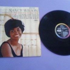 Discos de vinilo: JOYA LP. ORIGINAL. ST 2082 CAPITOL - NANCY WILSON - TODAY, TOMORROW, FOREVER.. Lote 177831259