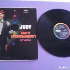 Discos de vinilo: JOYA LP ORIGINAL AÑO 1960. JUDY GARLAND THAT´S ENTERTAINMENT. CAPITOL RECORDS T1467. USA.. Lote 177834508