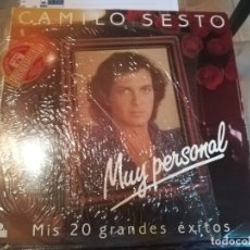 Discos de vinilo: CAMILO SESTO. MUY PERSONAL. MIS 20 GRANDES EXITOS. DOBLE LP. Lote 185881987