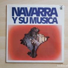 Discos de vinilo: NAVARRA Y SU MÚSICA - LP VINILO - HISPAVOX - 1980. Lote 177840733