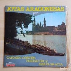 Discos de vinilo: JOTAS ARAGONESAS - CAMEN CORTES, PIEDAD GIL Y JESUS GRACIA - LP VINILO - VERGARA - 1967. Lote 177843694