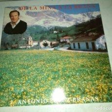Discos de vinilo: JUAN ANTONIO LOPEZ BRAÑAS - DE LA MINA A LA BRAÑA LP FOLK ASTURIANO ASTURIAS. Lote 177845875