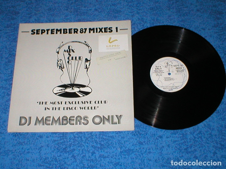DJ MEMBERS ONLY LP SEPTEMBER 87 THE MIXES 1 NEW ORDER PET SHOP BOYS JACKSONS RICK ASTLEY CHIC CAMEO (Música - Discos - LP Vinilo - Disco y Dance)