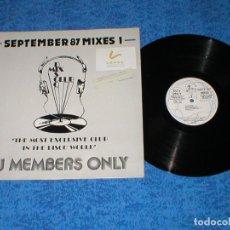 Discos de vinilo: DJ MEMBERS ONLY LP SEPTEMBER 87 THE MIXES 1 NEW ORDER PET SHOP BOYS JACKSONS RICK ASTLEY CHIC CAMEO. Lote 177866584