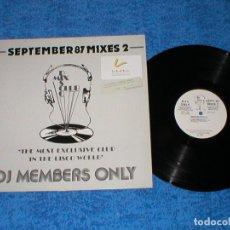 Discos de vinilo: DJ MEMBERS ONLY LP SEPTEMBER 87 THE MIXES 2 PRINCE SABRINA SPAGNA VIVIEN VEE RITCHIE FAMILY UB 40. Lote 177873903