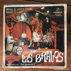 Discos de vinilo: BRAVOS - BRING A LITTLE LOVIN' - SINGLE COLUMBIA 1967. Lote 177875214
