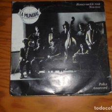Discos de vinilo: ORQUESTRINA LA MUNDIAL. HONEY-SUCKLE ROSE + 3. EP. ARIOLA, 1982. IMPECABLE. Lote 177876367