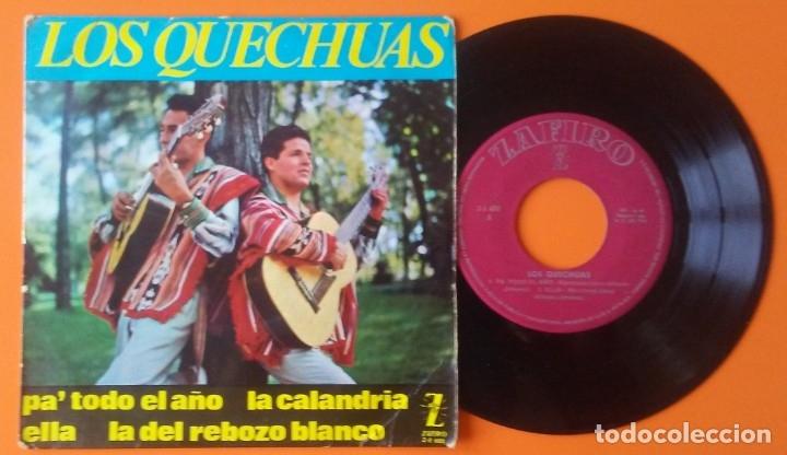 LOS QUECHUAS PA TODO EL AÑO+3 EP ZAFIRO 1964 (Música - Discos de Vinilo - EPs - Grupos y Solistas de latinoamérica)