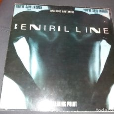 Discos de vinilo: CENTRAL LINE --- YOU'VE SAID ENOUGH. Lote 177888229