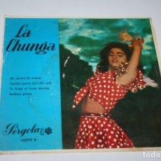 Discos de vinilo: LA CHUNGA / UN VESTIDO DE LUNARES + 3 (EP PERGOLA 1967). Lote 177890778