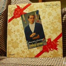 Discos de vinilo: PERRY COMO – SEASON'S GREETINGS, RCA VICTOR – LPM-2066, 1959, TEMAS EN DESCRIPCIÓN. . Lote 177892492