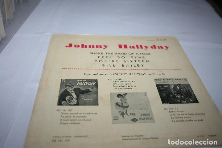 Discos de vinilo: Johnny Hallyday Shake the hand of a fool - 1962 - Ed. española - Foto 2 - 177892514
