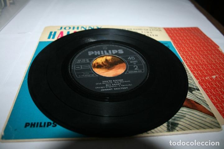 Discos de vinilo: Johnny Hallyday Shake the hand of a fool - 1962 - Ed. española - Foto 4 - 177892514