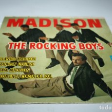 Discos de vinilo: ROCKING BOYS - BAILANDO MADISON + 3 EP 1962. Lote 177892629