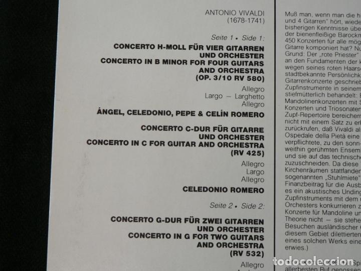 Discos de vinilo: Vivaldi - Conciertos para guitarras - Foto 2 - 177897154