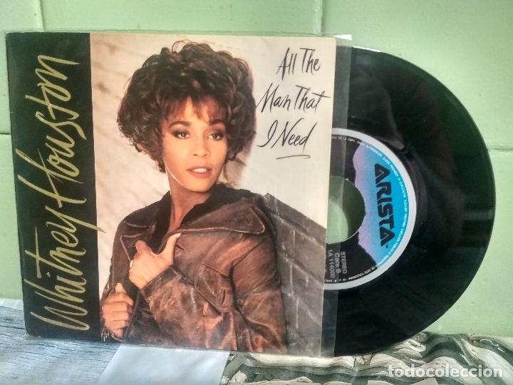 WHITNEY HOUSTON ALL THE MAN THAT I NEED SINGLE SPAIN 1990 PDELUXE (Música - Discos - Singles Vinilo - Pop - Rock Internacional de los 90 a la actualidad)