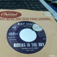 Discos de vinilo: KAY STARR SINGLE RIDERS IN THE SKY / NIGHT TRAIN ESPAÑA. Lote 177946734