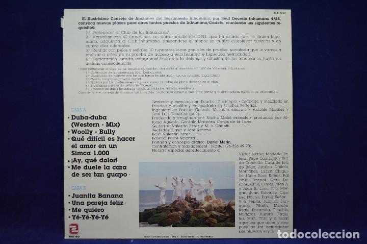 Discos de vinilo: LOS INHUMANOS - 30 HOMBRES SOLOS - LP - Foto 2 - 177947040