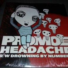Discos de vinilo: PROMOE - HEADACHE / DROWINING BY NUMBERS . Lote 177950457