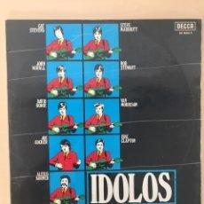 Discos de vinilo: IDOLOS LP VINILO DOS DISCOS ROCK DE LOS 70. Lote 177952648