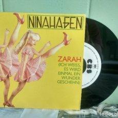 Discos de vinilo: NINA HAGEN ZARAH SINGLE SPAIN 1983 PDELUXE. Lote 177956015